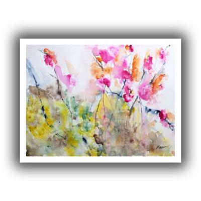 Brushstone Summer Pink Canvas Wall Art