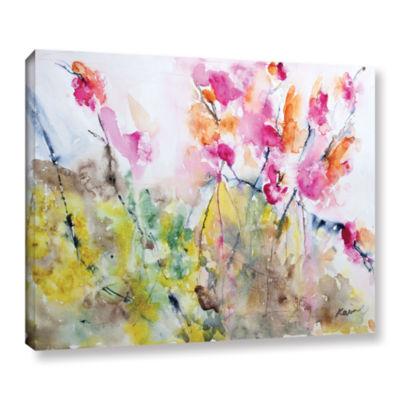 Brushstone Summer Pink Gallery Wrapped Canvas WallArt