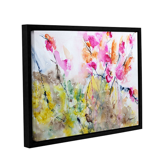 Brushstone Summer Pink Gallery Wrapped Floater-Framed Canvas Wall Art