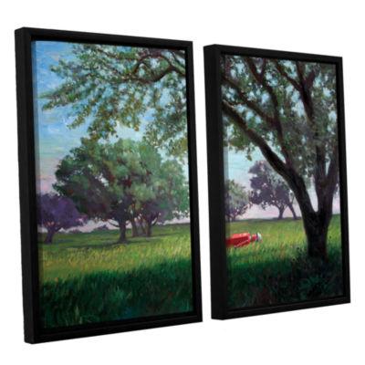 Brushstone Summertime (004) 2-pc. Floater Framed Canvas Wall Art
