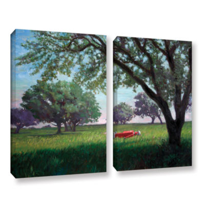Brushstone Summertime (004) 2-pc. Gallery WrappedCanvas Wall Art
