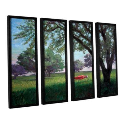 Brushstone Summertime 4-pc. Floater Framed CanvasWall Art