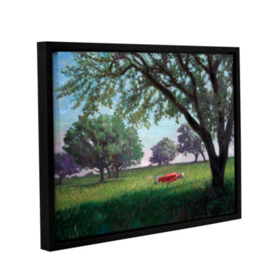 Brushstone Summertime (004) Gallery Wrapped Floater-Framed Canvas Wall Art