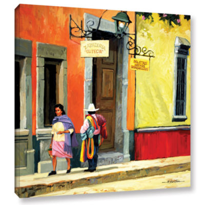 Brushstone Streets of Mexico Gallery Wrapped Canvas Wall Art