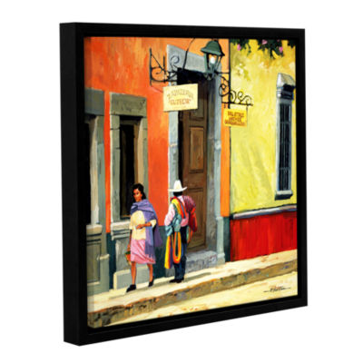 Brushstone Streets of Mexico Gallery Wrapped Floater-Framed Canvas Wall Art