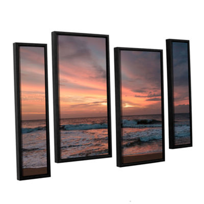 Brushstone Sri Lankan Sunset 4-pc. Floater FramedStaggered Canvas Wall Art