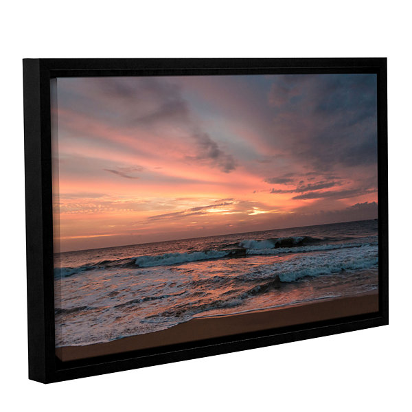 Brushstone Sri Lankan Sunset Gallery Wrapped Floater-Framed Canvas Wall Art