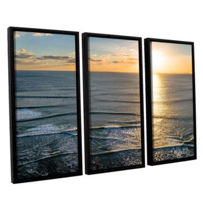 Brushstone Sun Shining Ripples 3-pc. Floater Framed Canvas Wall Art