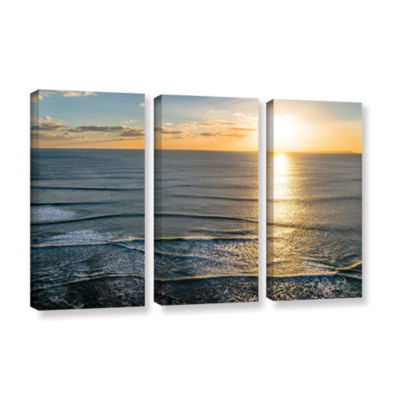 Brushstone Sun Shining Ripples 3-pc. Gallery Wrapped Canvas Wall Art