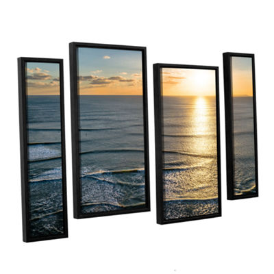 Brushstone Sun Shining Ripples 4-pc. Floater Framed Staggered Canvas Wall Art