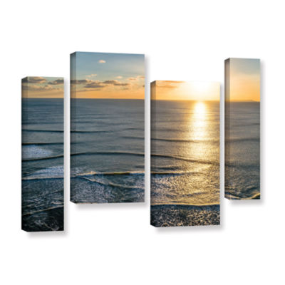 Brushstone Sun Shining Ripples 4-pc. Gallery Wrapped Staggered Canvas Wall Art