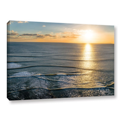 Brushstone Sun Shining Ripples Gallery Wrapped Canvas Wall Art