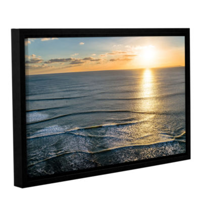 Brushstone Sun Shining Ripples Gallery Wrapped Floater-Framed Canvas Wall Art