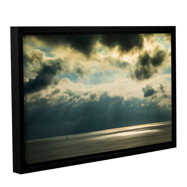 Brushstone Storm Clouds Clearing Gallery Wrapped Floater-Framed Canvas Wall Art