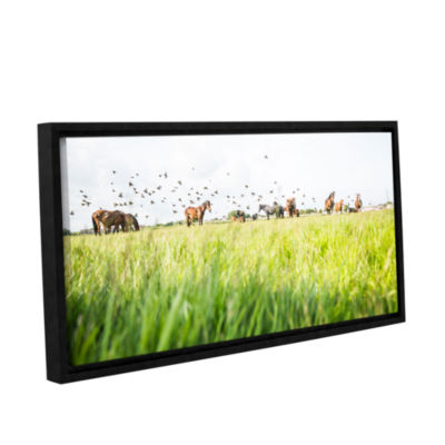 Brushstone Starling Gallery Wrapped Floater-FramedCanvas Wall Art