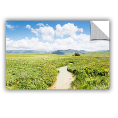 Brushstone Stream for Cattle Removable Wall Decal