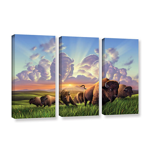 Brushstone Stamped 3-pc. Gallery Wrapped Canvas Wall Art