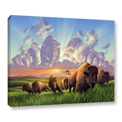 Brushstone Stamped Gallery Wrapped Canvas Wall Art