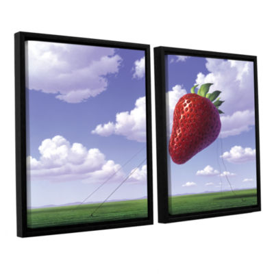 Brushstone Strawberry Field 2-pc. Floater Framed Canvas Wall Art