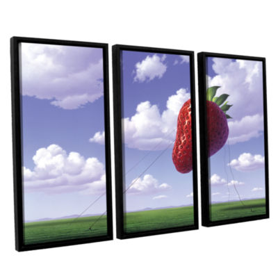 Brushstone Strawberry Field 3-pc. Floater Framed Canvas Wall Art