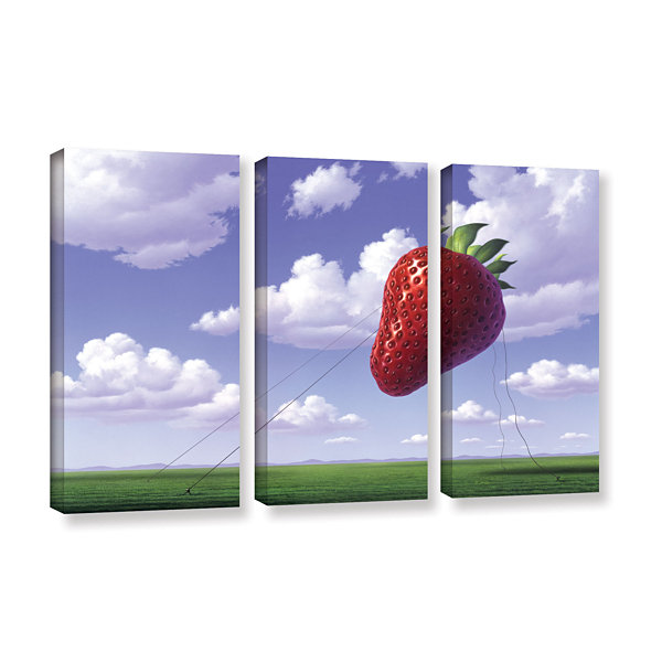 Brushstone Strawberry Field 3-pc. Gallery WrappedCanvas Wall Art