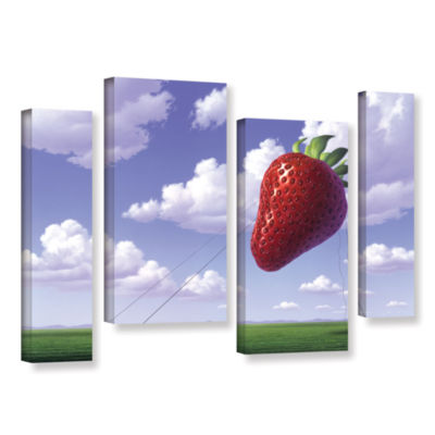 Brushstone Strawberry Field 4-pc. Gallery WrappedStaggered Canvas Wall Art