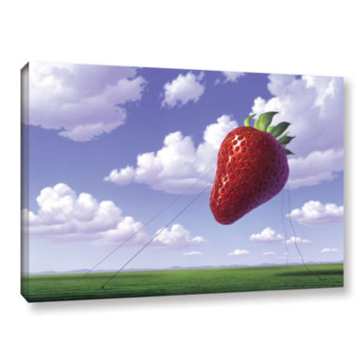 Brushstone Strawberry Field Gallery Wrapped CanvasWall Art