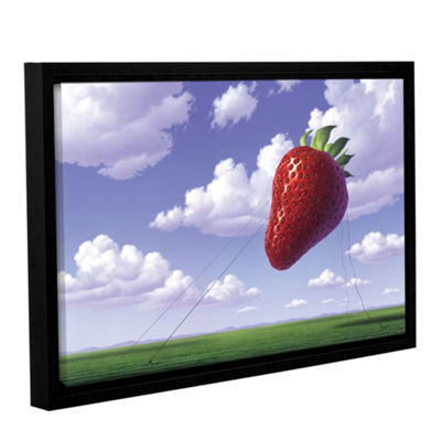 Brushstone Strawberry Field Gallery Wrapped Floater-Framed Canvas Wall Art