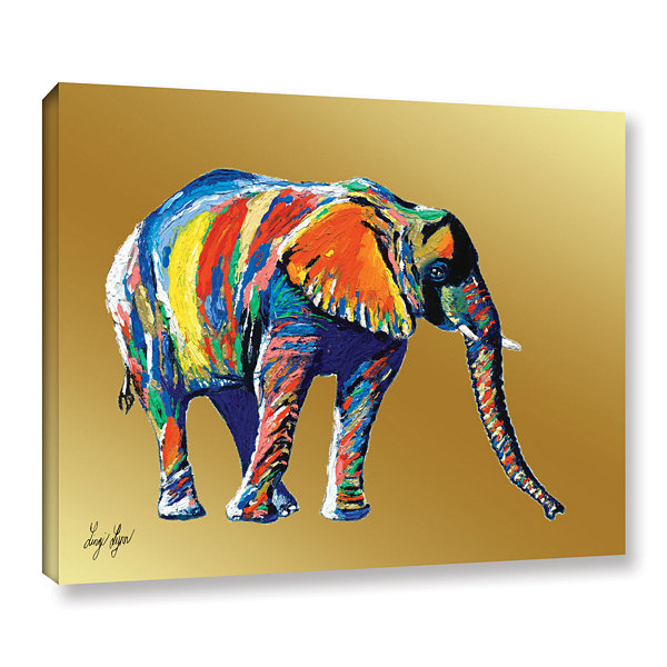 Brushstone Sunflower (elephant) Gallery Wrapped Canvas Wall Art