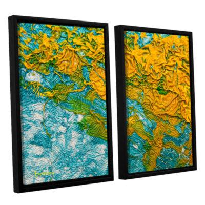 Brushstone Summer Breeze 2-pc. Floater Framed Canvas Wall Art