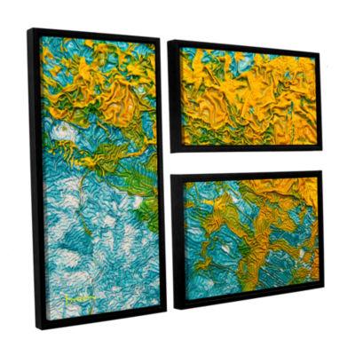 Brushstone Summer Breeze 3-pc. Flag Floater FramedCanvas Wall Art