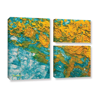 Brushstone Summer Breeze 3-pc. Flag Gallery Wrapped Canvas Wall Art