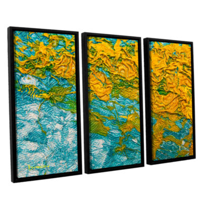Brushstone Summer Breeze 3-pc. Floater Framed Canvas Wall Art