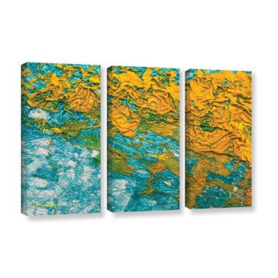 Brushstone Summer Breeze 3-pc. Gallery Wrapped Canvas Wall Art