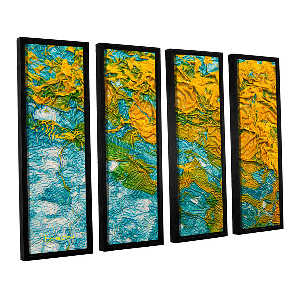 Brushstone Summer Breeze 4-pc. Floater Framed Canvas Wall Art
