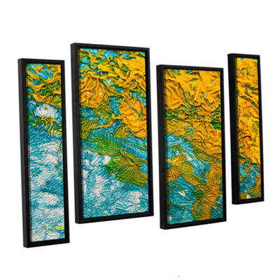Brushstone Summer Breeze 4-pc. Floater Framed Staggered Canvas Wall Art
