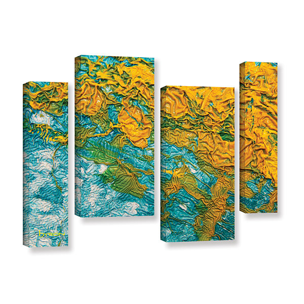 Brushstone Summer Breeze 4-pc. Gallery Wrapped Staggered Canvas Wall Art