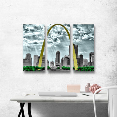 Brushstone St. Louis 3-pc. Gallery Wrapped CanvasWall Art
