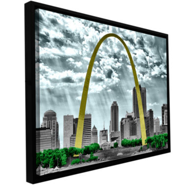 Brushstone St. Louis Gallery Wrapped Floater-Framed Canvas Wall Art