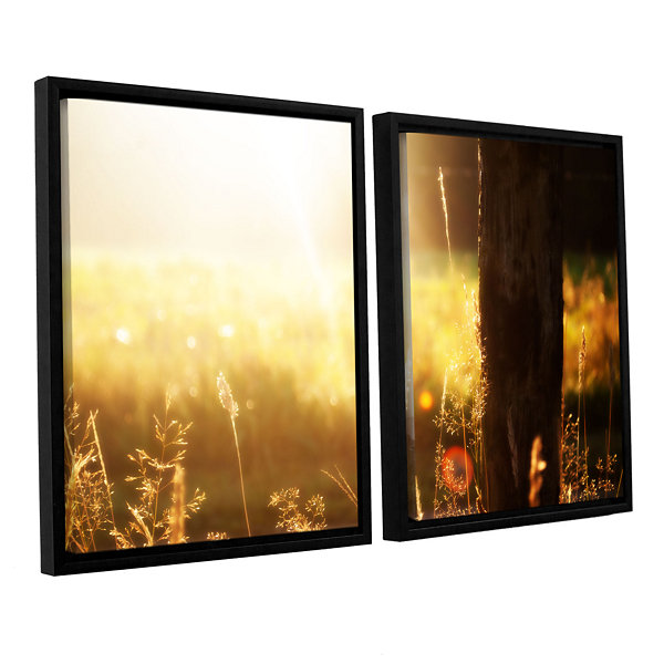 Brushstone Summertime 2-pc. Floater Framed CanvasWall Art