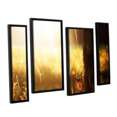 Brushstone Summertime 4-pc. Floater Framed Staggered Canvas Wall Art