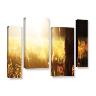 Brushstone Summertime 4-pc. Gallery Wrapped Staggered Canvas Wall Art