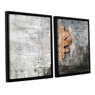 Brushstone Still Life Leaf 2-pc. Floater Framed Canvas Wall Art
