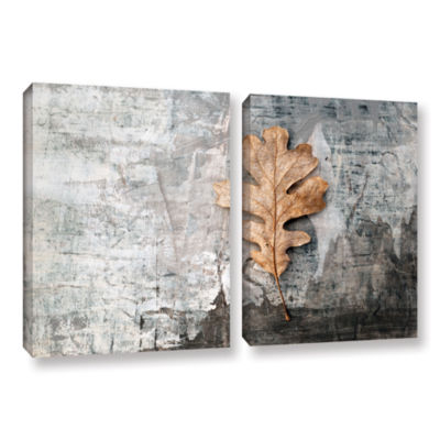 Brushstone Still Life Leaf 2-pc. Gallery Wrapped Canvas Wall Art