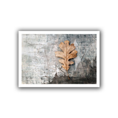 Brushstone Still Life Leaf Canvas Wall Art