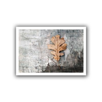 Brushstone Still Life Leaf Canvas Wall Art