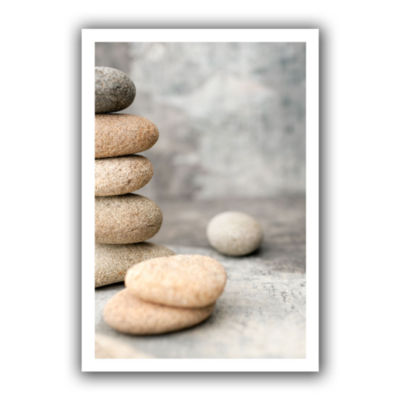Brushstone Still Life River Stones Canvas Wall Art