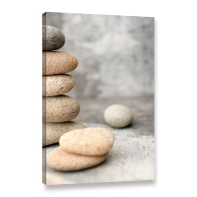Brushstone Still Life River Stones Gallery WrappedCanvas Wall Art