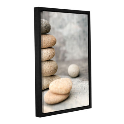 Brushstone Still Life River Stones Gallery WrappedFloater-Framed Canvas Wall Art
