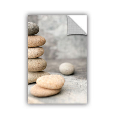 Brushstone Still Life River Stones Removable WallDecal